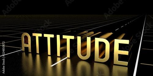 Attitude concept, road - 3D rendering Canvas Print