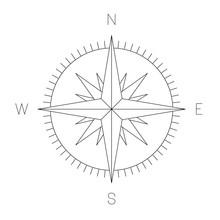 Compass Rose - Nautical Chart....