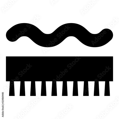 Photo Abrasion resistant for broom brushing Designation on the wallpaper symbol icon b