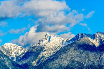 Panel Szklany Góry Rocky Mountains. Vancouver. Canada.