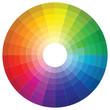 canvas print picture - gz735 GrafikZeichnung - german - Vielfarbig - 24-farbig - Buntes Farbkreis Symbol. - english - colourful - color wheel icon. 24-color-circle in gradiation - paint. - simple template - square xxl g9085