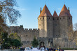 Fortified medieval city of Carcassonne in France.