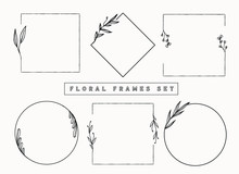 Floral Frames And Borders Vect...