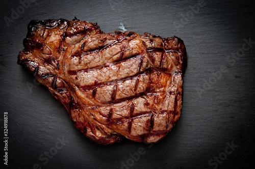 Fototapeta organic rib eye beef steak obraz
