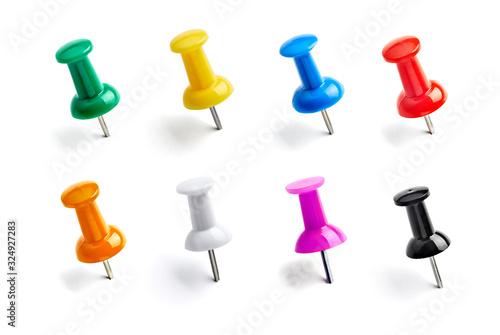 Fotografía push pin paper clip thumbtack note office