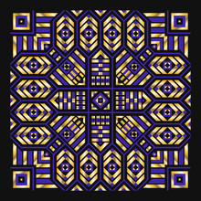 Modern Contemporary Golden Black And Blue Egypt Style Pattern