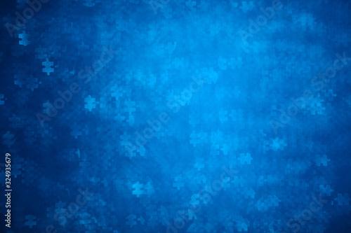 Photo Blue Puzzle shape bokeh