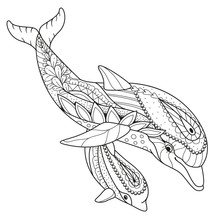 Antistress Coloring Book Dolph...