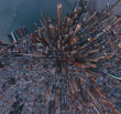 Aerial view of city of San Francisco, California, USA