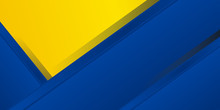 Blue Yellow White Abstract Ba...