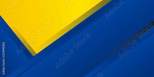 Blue yellow white abstract background geometry shine and layer element vector for presentation design. Suit for business, corporate, institution, party, festive, seminar, and talks.