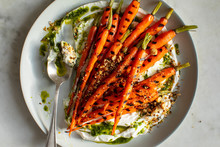 Close Up Of Grilled Carrots Se...