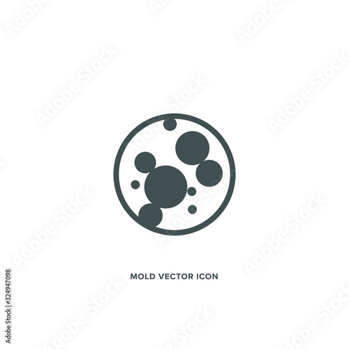 Fotografie, Tablou Mold fungus vector icon. Illustrator EPS10.