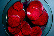 Close Up Of Pickled Beets In B...