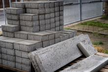 Stack Of Concrete Paving Block...