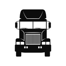 Truck Tractor Icon. Front View...