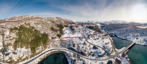 Obraz The Nordlandsbanen is a 729 km long single track which is not electrified. - fototapety do salonu