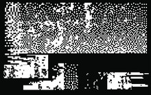 Set Of White Noise Textures, Glitch Pattern. Collection Of 1-bit Pixel Art Elements For Design.