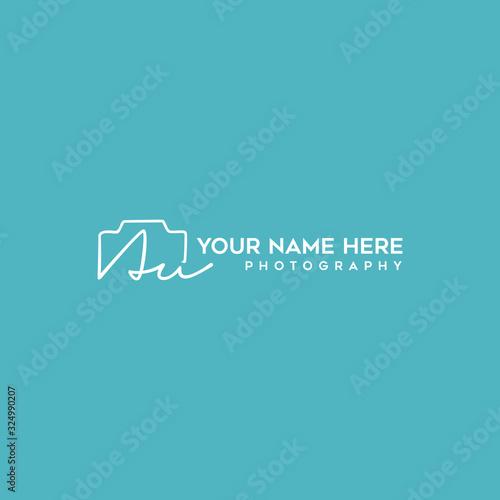 Photo Au Initial Signature Photography Logo