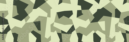Cuadros en Lienzo Geometric olive khaki camo, seamless pattern