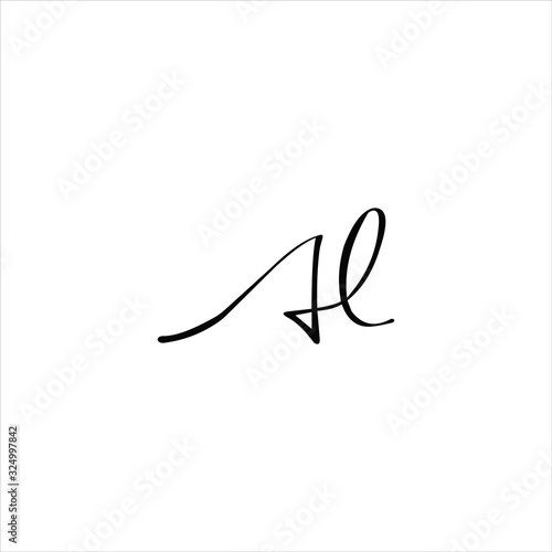 initial letter al or la logo vector design Canvas Print