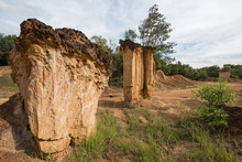 Pae Muang Pee,  Sandstone  Erosion By Times And Weathers Approximately. 2 Millions Years In Prea Province, Northern Thailand.