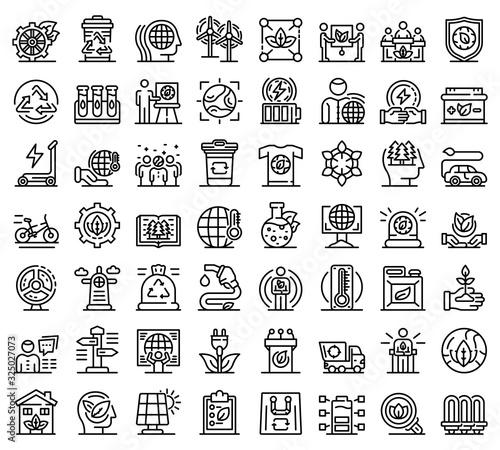 Valokuva Ecologist icons set