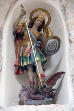 Saint Michael In The Wall Wall Near The Milk Grotto In Bethlehem, Palestine, Israel