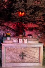 Haifa, Israel - January 26 2020: The Stella Maris Monastery, Where Houses The Cave Of Elijah.