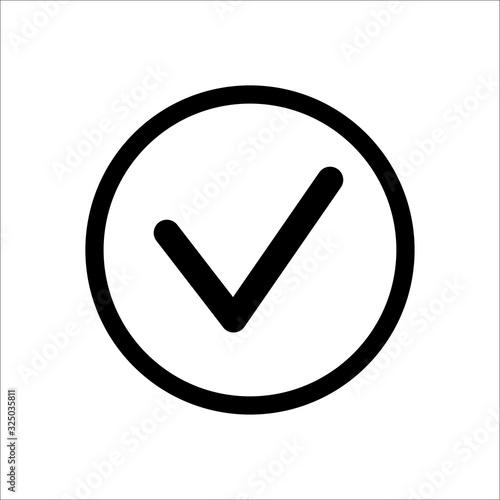 Cuadros en Lienzo Mark icon right choice symbol vector illustration