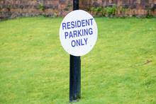Residents Parking Only Sign On...
