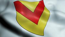 3D Waved United Kingdom City Flag Of Newport