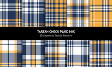 Tartan Plaid Pattern Set. Seam...