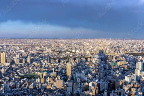 雲が晴れてきた東京 Canvas Print