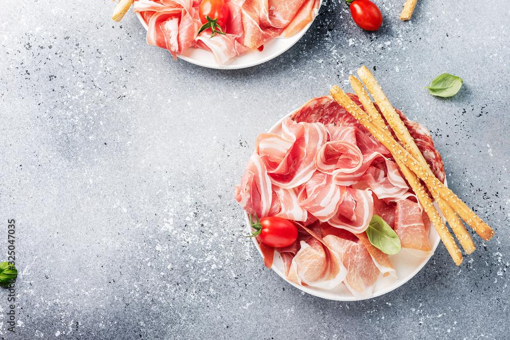 Fototapeta traditional italian antipasto