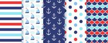 Nautical, Marine Seamless Patt...