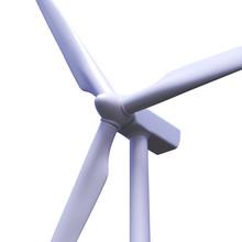 Wind Turbine Isolated On White...