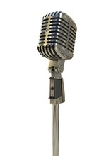 Retro Microphone Isolated On W...