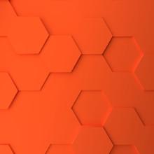 Abstract Modern Orange Honeyco...