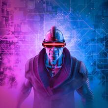 Cyberpunk Mohawk Man / 3D Illu...