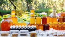 Jars And Honey Sticks With Nat...