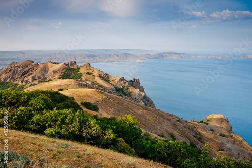 Slika na platnu Karadag mountain range in Crimean mountains, an ancient extinct volcano