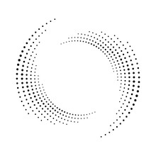 Spiral Dots Backdrop. Halftone...