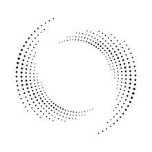 Spiral Dots Backdrop. Halftone...