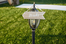 Vintage Wood Wedding Arrow Wit...