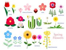 春の花のシンプルイラ...