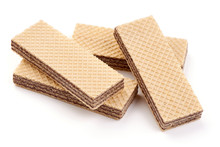 Wafer Biscuit, Isolated On Whi...