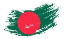 Bangladeshi Flag Grunge Brush Background. Vector Illustration.