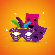 Mardi Gras Masks Design, Party...