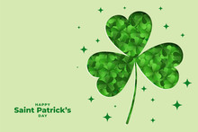 Elegant St Patricks Day Leaf D...